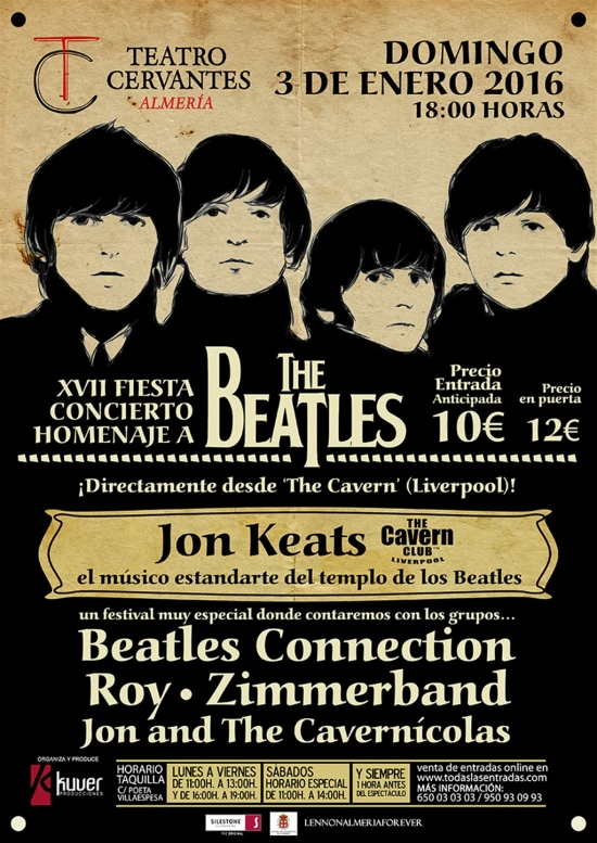 Cartel Fiesta Beatles Almeria